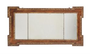 A George II walnut and parcel gilt wall mirror