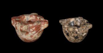 A Continental Breccia marble mortar