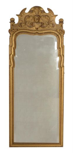 A George I carved giltwood wall mirror