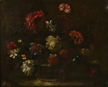 Follower of Nicolas Baudesson, Still life of flowers in a basket