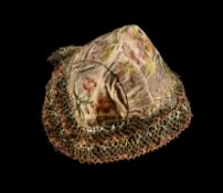 A Queen Anne embroidered bonnet