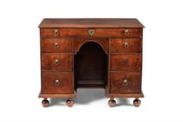 A William & Mary oak kneehole desk