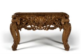 A George II carved giltwood console table