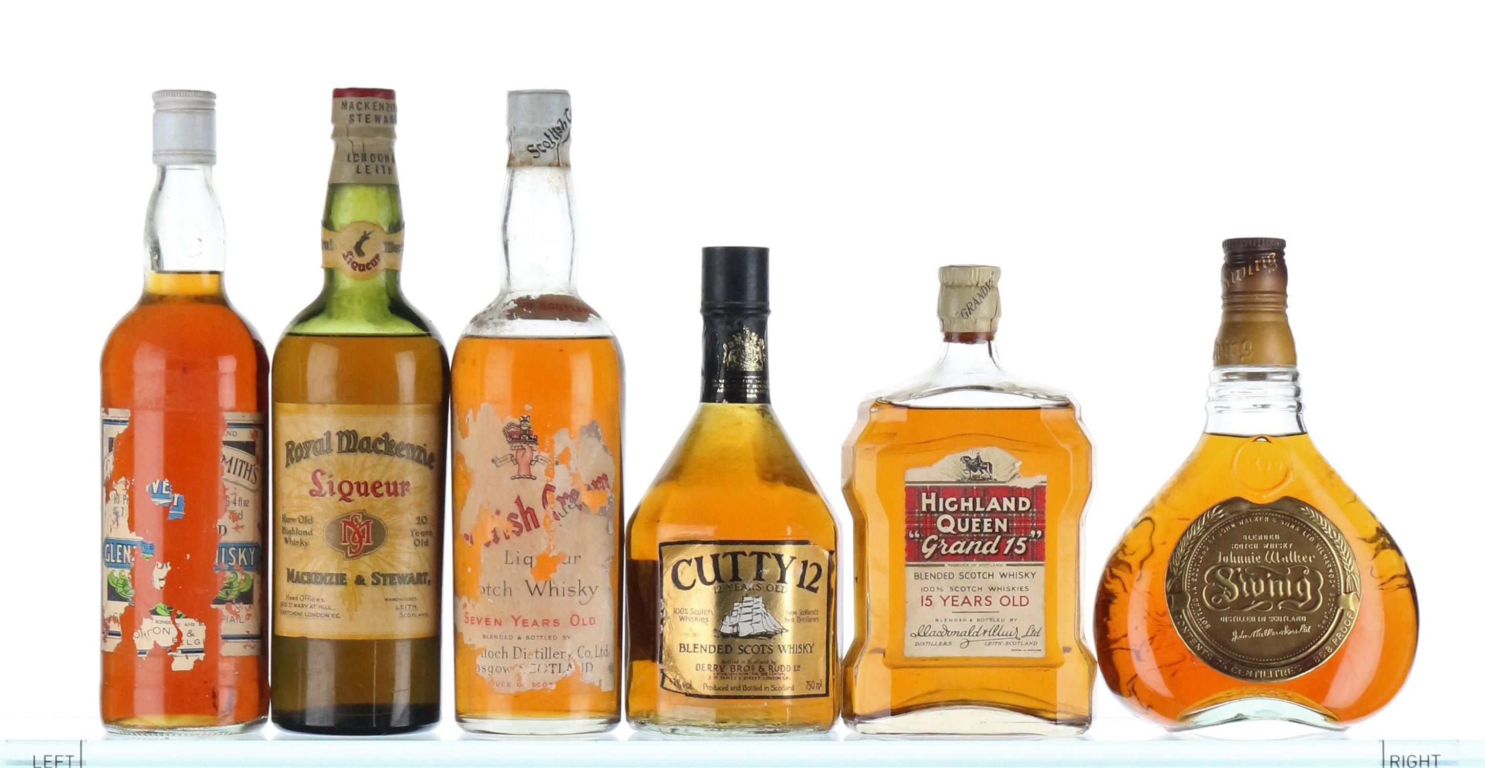 Mixed Case of Whisky 1950's-1970's