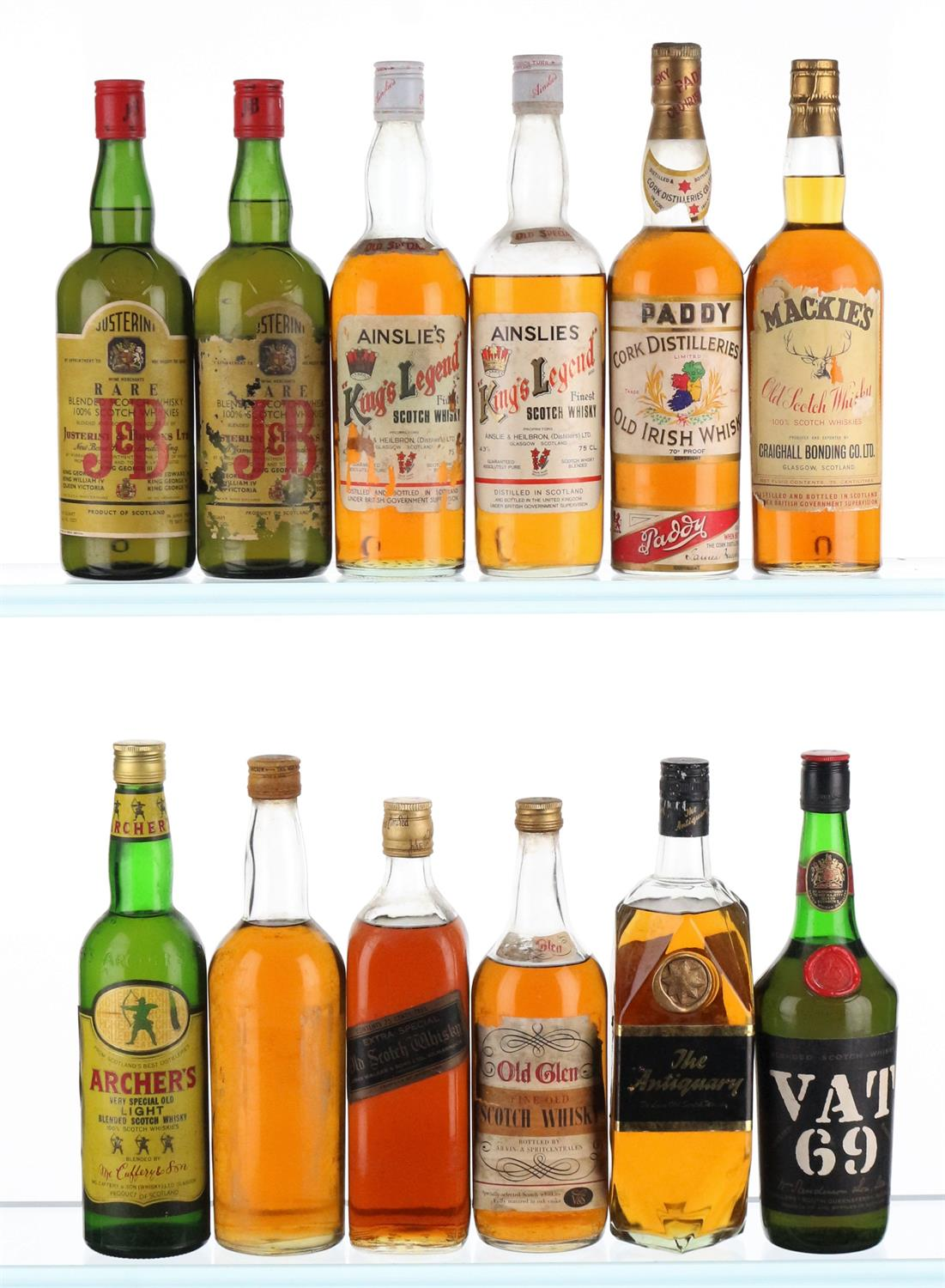 Mixed Case of Whisky - 1940's-1970's