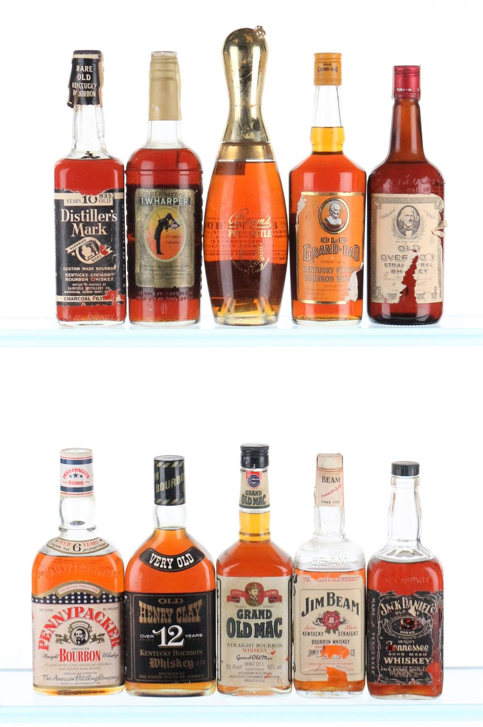 Mixed Case of Bourbon Whiskey - 1950's-1970's