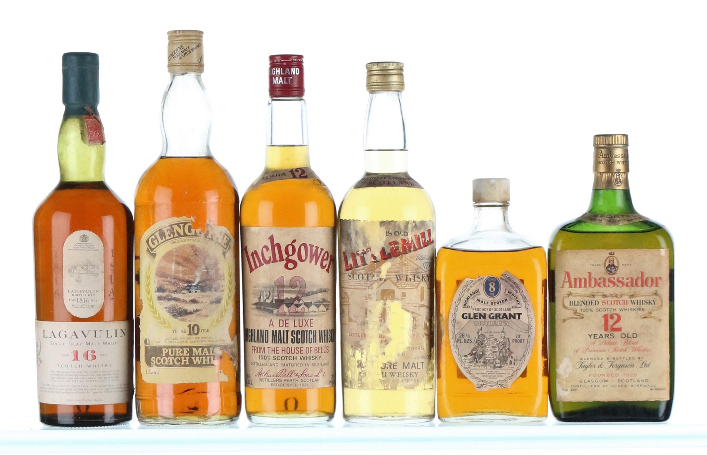 Mixed Case of Whisky 1950's-1980's