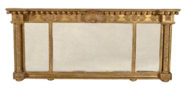 A Regency giltwood overmantel mirror