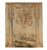 A Louis XVI Aubusson portico tapestry in the manner of Jean-Baptiste Huet