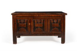 A rare Charles II solid ash coffer