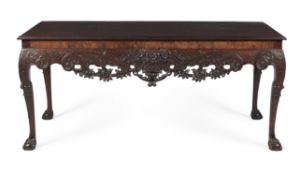 An Irish George II mahogany side table