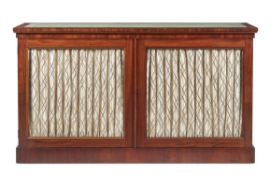 A George IV mahogany side cabinet