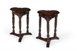 A pair of oak tables in Elizabethan style, early 20th century