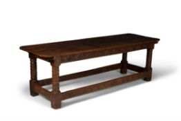 A Charles I oak refectory table