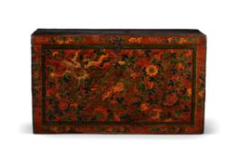 A Tibetan polychrome painted chest