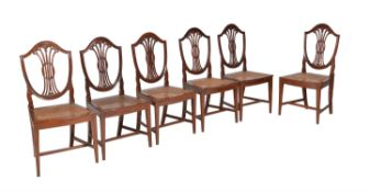 A set of six Chinese Export exotic hardwood dining chairs