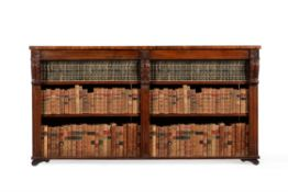 Y A George IV rosewood and simulated rosewood open bookcase