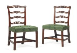A set of ten mahogany dining chairs