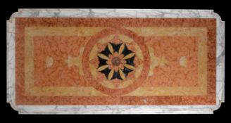 An Italian inset marble table top
