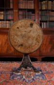 A Regency oak and pollard oak centre table