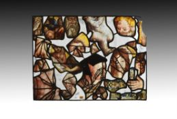 A composite stained glass panel
