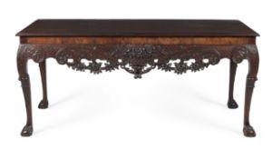 An Irish George II mahogany side table