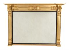 A George IV giltwood overmantle mirror