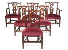 A set of eight mahogany dining chairs, in George III style