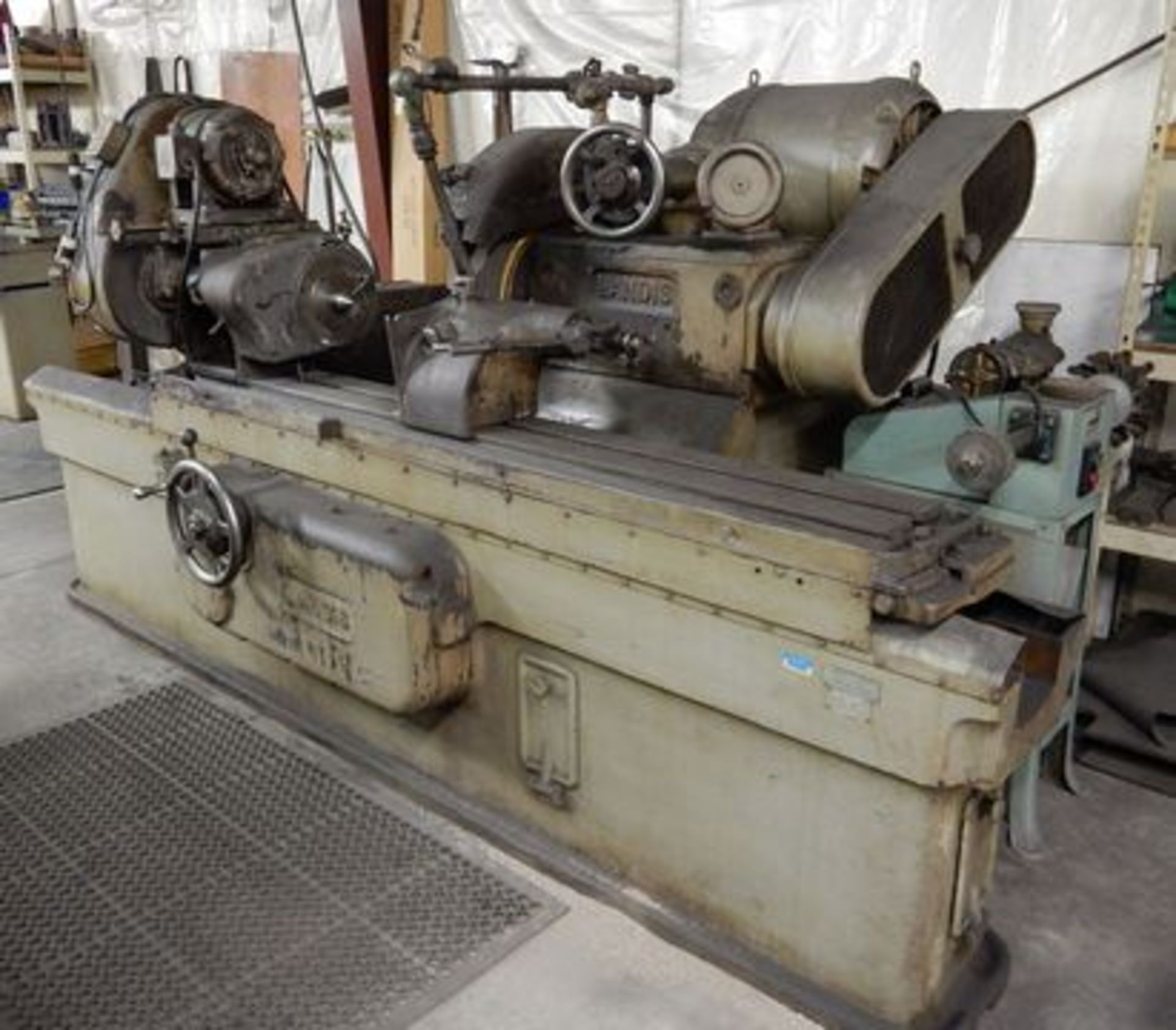 "Lot 113 - LANDIS OD CYLINDRICAL GRINDER, M# 14X38, S/N 24974, 14"" SWING X 48"" CENTERS"