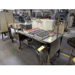 LOT OXY/ACETYLENE STATION W/TORCH, GAUGES, HOSE, TABLE