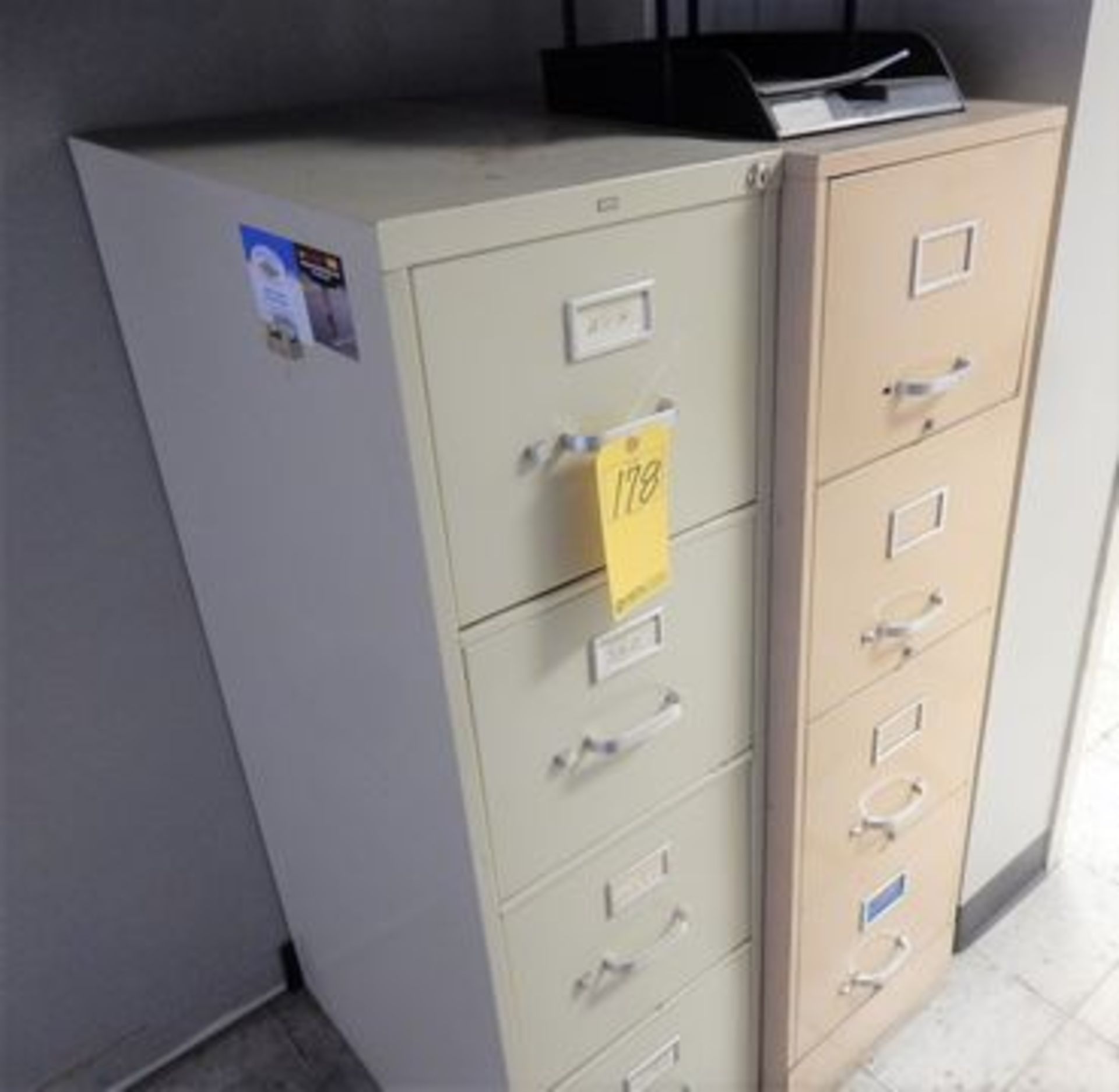 Lot 178 - (2) 4-DRAWER FILES