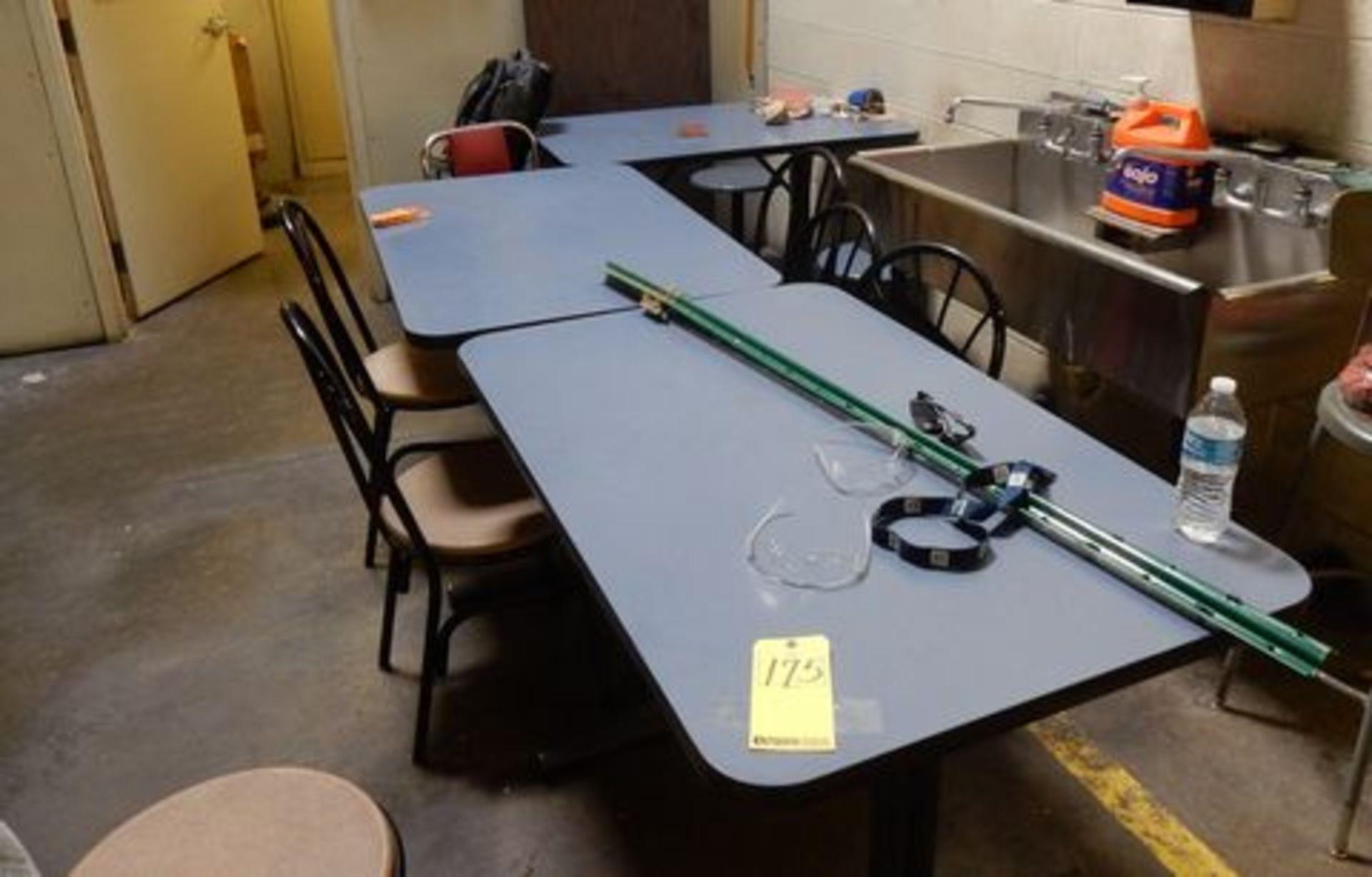 Lot 175 - LOT BREAK ROOM TABLES W/CHAIRS