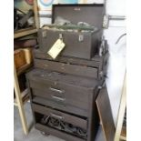 LOT (3) TOOL BOXES W/CONTENTS TO INCLUDE HAND TOOLS, REAMERS, TAPS, DIES