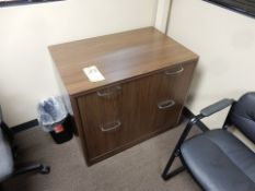 """2-DRAWER WOOD LATERAL FILE, 24"""" X 36"""" X 30"""""""