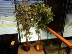 LOT (2) ARTIFICIAL TREES