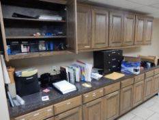 LOT MISC. OFFICE SUPPLIES - PENS, PAPER CLIPS, NOTE PADS, ENVELOPES, PAPER CUTTER, HOLE PUNCHES, ETC