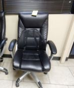 LEATHER ROLLAROUND OFFICE CHAIR