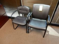 LOT (2) LEATHER OFFICE CHAIRS