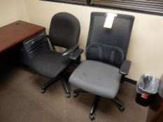 LOT (2) DESK CHAIRS