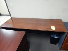 """FORMICA TOP DESK, NO DRAWERS, 23.5"""" X 71"""" X 29.5"""", W/3-DRAWER FILE"""