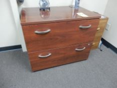 WOOD 2-DRAWER LATERAL FILE