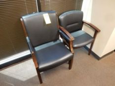 LOT (2) OFFICE CHAIRS, LEATHER