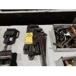 LOT PIPE WRENCHES