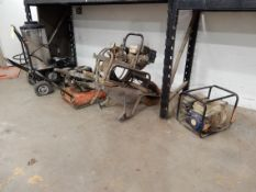 SOLD BY PHOTO - LOT, INCLUDING PORT. PRESSURE WASHER, PLATE COMPACTOR, PUMP, & GENERATOR