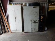 LOT METAL STG. LOCKERS & FILE CABINETS W/CONTENTS TO INCLUDE - ULINE SUPPLIES