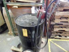 DRUM PUMP W/EMPTY 55 GAL. DRUM