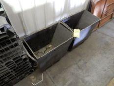 LOT (2) ROLLING SCRAP/TRASH BINS