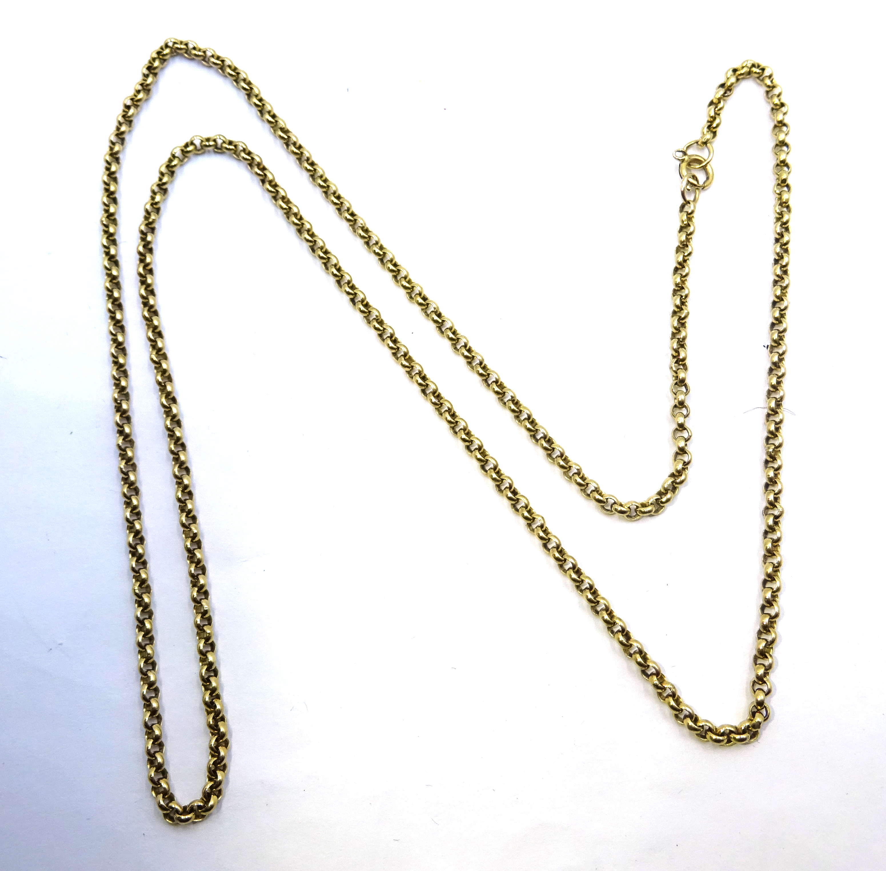 Lot 1044 - 9ct gold cable chain link necklace stamped 375, approx 8.