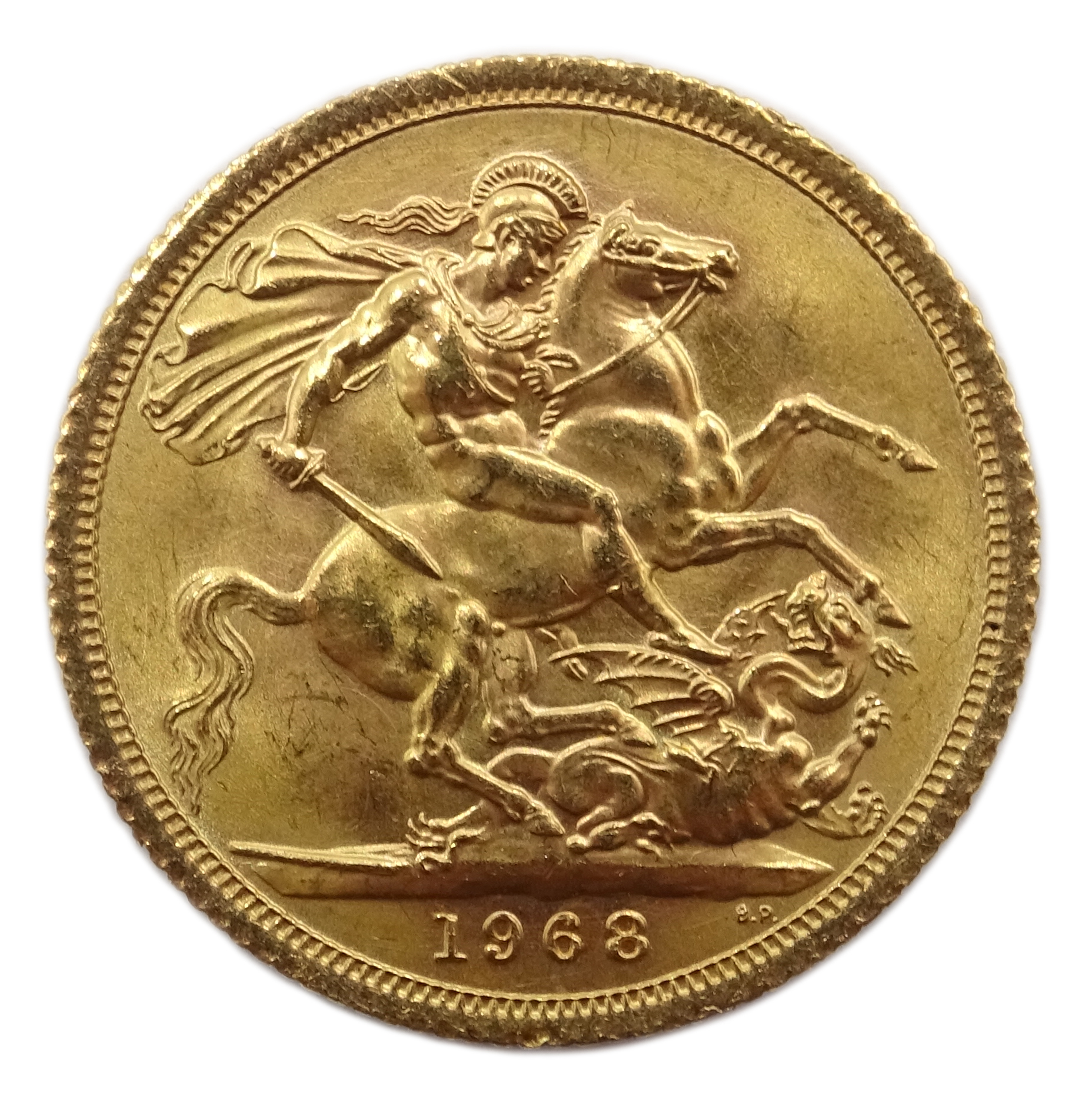 Lot 1037 - 1968 gold full sovereign Condition Report & Further Details <a href='//www.