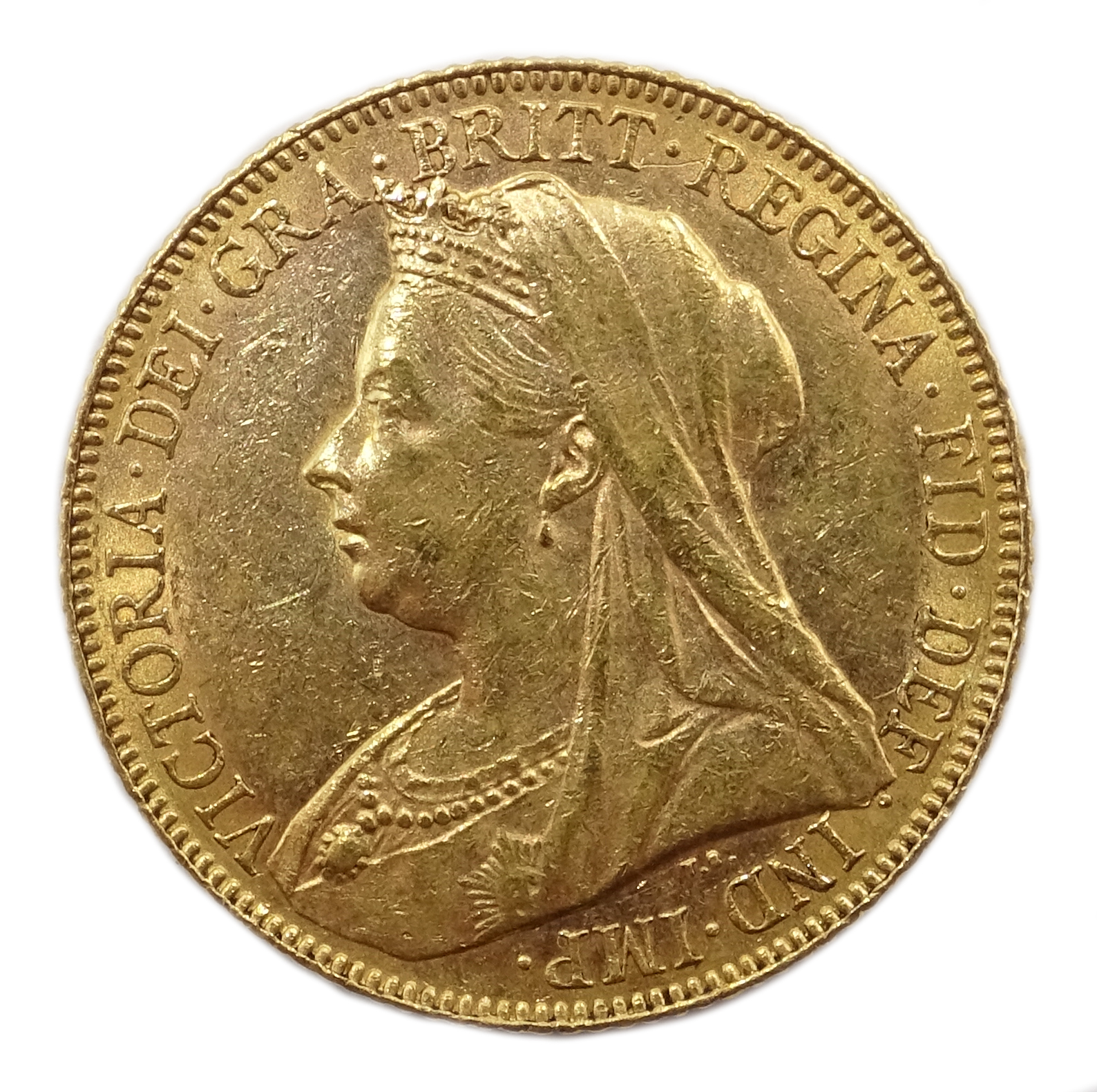 Lot 1049 - 1900 gold full sovereign Condition Report & Further Details <a href='//www.